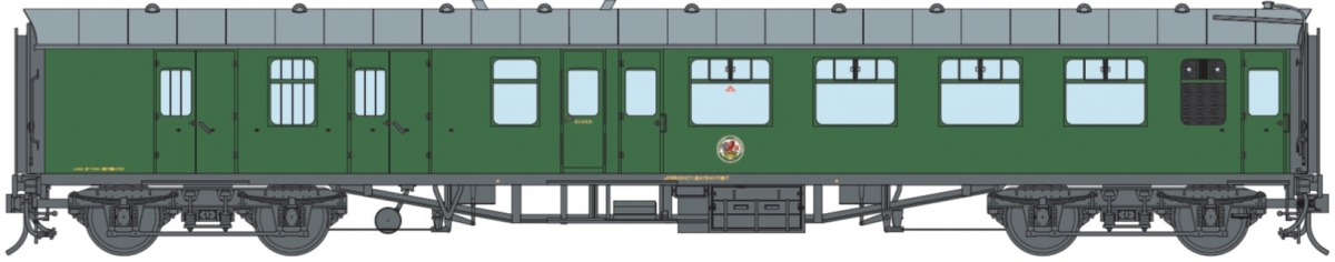 O Gauge BR SR Green BSK (Unnumbered) DCC Fitted