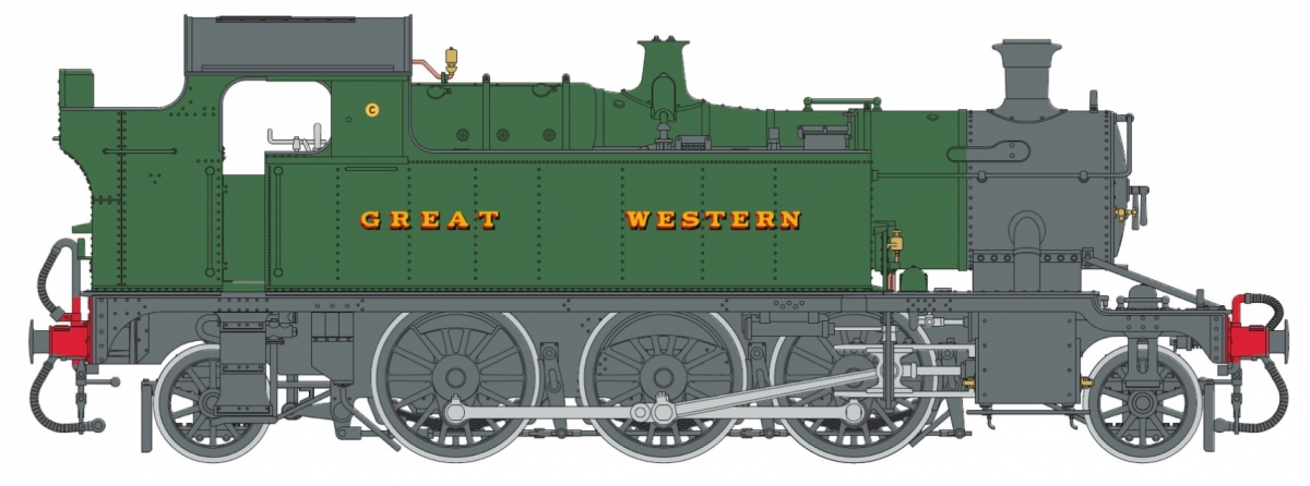 O Gauge 45XX G.W. Green lettered GREAT WESTERN - Unnumbered DCC Sound Fitted