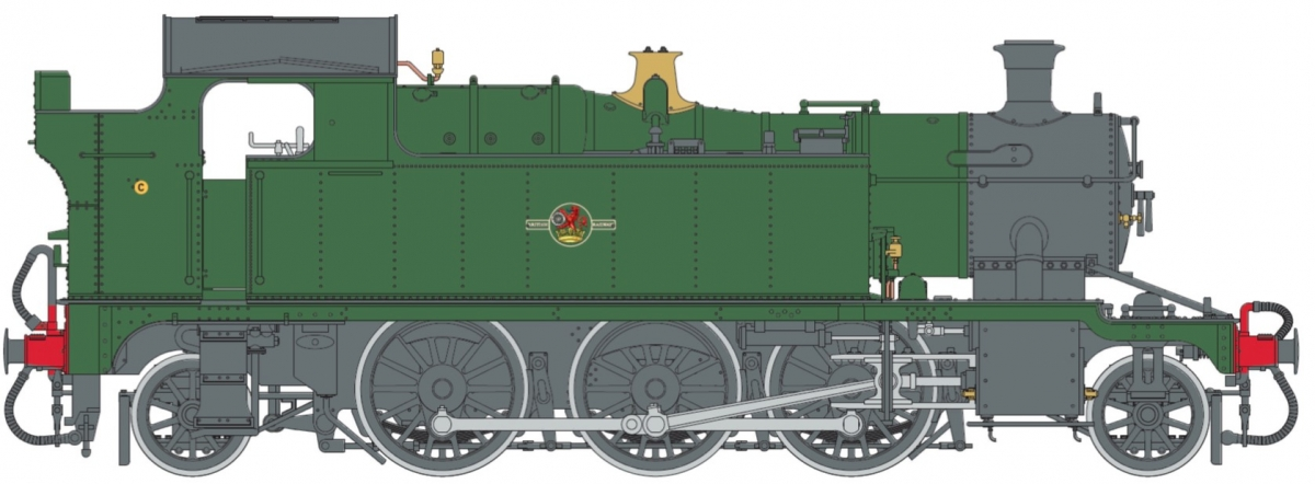 O Gauge 45XX B.R. Lined Green Late Crest — Unnumbered DCC Sound Fitted